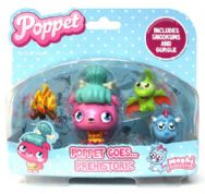 Moshi Monsters Poppet Goes Prehistoric Playset with Snookums and Gurgle Figures